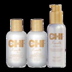 CHI - CHI Keratin 3,lü set (Shampoo,Treatment,K-TRIX 5)